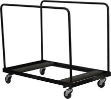 Flash Furniture Black Steel Folding Table Dolly for Round Folding Tables  NEW