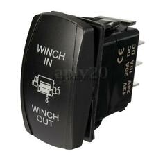 WINCH IN/OUT Momentary Rocker Switch DPDT/7Pin Orange for Jeep Nissan Patrol