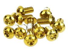 MOWA Bicycle Cycling Bike Disk Brake Rotor Bolts Screws/M5 10mm 12pcs Gold