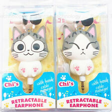 Cute Cartoon Retractable Earphone In-ear Headphone for MP3/4 PDA PSP Player Gift
