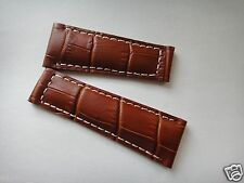 Genuine Leather Band/Strap.bracelet Rolex DAYTONA replacement 20x16mm,milk brown