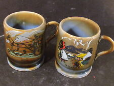 Wade  2pc  TOOTHPICK HOLDER Woman Carrying Bundle and Horse & Wagon