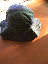NEW RALPH LAUREN POLO  BUCKET/GOLF/RAIN HAT BLACKWATCH PLAID OILCLOTH   L/XL