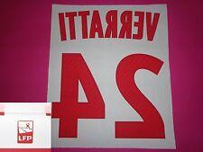 Flocage officiel PSG Paris VERRATTI 2012 14 domicile