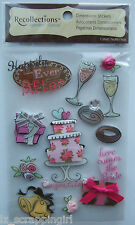 Recollections ~HAPPILY EVER AFTER~ Dimensional Stickers; Wedding Reception Bride