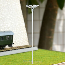 2 pcs HO scale Model Floodlight Cold SMD LED made Cold Lamppost longlife #014