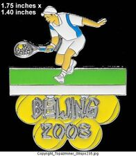 OLYMPIC PIN BEIJING 2008 SPORT OF TENNIS LE SILVER