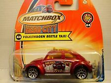 Matchbox Hero City Volkswagen Beetle Taxi No 44 Mint on Card