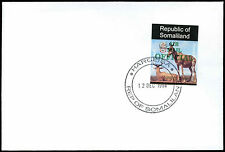 Somaliland 1998 Hartebeest Airmail Official Imperf Green Overprint Cover #C33797