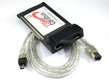 2 Port 1394 6-PIN FIREWIRE PCMCIA CARDBUS ADAPTER notebook laptop up to 400Mbps