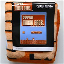 Nintendo Super Mario Bros. 8-Bit Plush Fleece Soft Throw Blanket 48x60 LICENSED