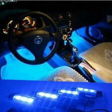 4x 3 LED Blue Neon Lights Bulbs For Car Interior Decoration Cigarette Lighter UK