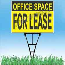 """18""""x24"""" OFFICE SPACE FOR LEASE Outdoor Yard Sign & Stake Lawn Real Estate Work"""
