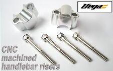 28.6m (11/8) 15mm Rise Bar Fatbar Twinwall Handlebar Risers Silver KTM YZF YZ