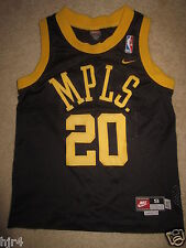 Gary Payton #20 Los Angeles Lakers MPLS Nike Retro Black Jersey Youth S 8 Small