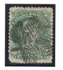 Canada #24 VF Used With Fancy Leaf Cancel