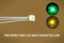 DT0605RY 20pc Pre-soldered litz wired leads Bi-color RED/YELLOW SMD Led 0605 NEW