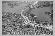 SYDNEY Harbour Bridge 'complete' 1st Aerial view 1932 modern digital Postcard