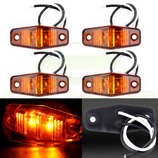 4 x Amber Side Marker Trailer LED Clearance Light 2 Diode 1x2.5 surface mount