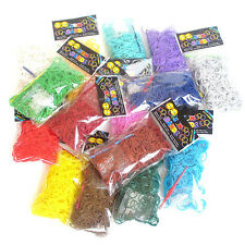 600pcs/pack High-Quality Solid-Color Loom Rubber Bands Fashion