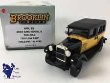 1/43 BROOKLIN BML 19 GMC MODEL 6 TAXI CAB YELLOX CAB 1930 YELLOW BLACK