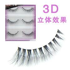 3D Natural Slender False Eyelashes Mink Hair Style Cross False Eye Lashes 3Pairs