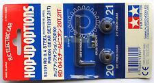 """Tamiya 1/10 RD 0,4 Steel Pinion Gear Set 20T & 21T (Ritzel) """"NEW"""" 53101"""