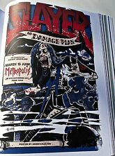 Slayer Concert Poster Reprint for 2004 Montreal Canada  Offset Lithograph 14x10