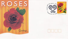 AUSTRALIA 29 JANUARY 1997 ROSES GREETINGS OFFICIAL FIRST DAY COVER SHS