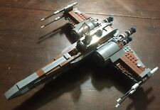 Custom Lego Star Wars Brown & Dark Gray X-Wing Fighter with Pilot