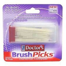 The Doctor's BrushPicks - Interdental Toothpicks - 60 ct  (3 PACK)