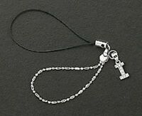 Letter I Crystals Cell Phone Charm For Mobile Phone New