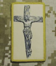 JESUS CHRIST CROSS CRUSADER US USA MILITARY TACTICAL DESERT HOOK MORALE PATCH