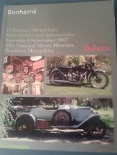 Bonhams Auction Catalogue Sept.2007Motor Cars Motorcycles and Automobilia.