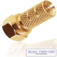 10 x F Stecker 4 mm  vergoldet LNB für Kabel 4,0mm hochwertige Ausführung