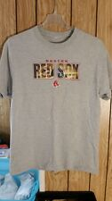BOSTON RED SOX TEE LARGE GRAY GRAPHIC IN LETTERS SHORT SLEEVE