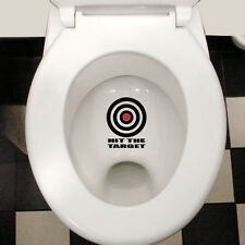 HIT THE TARGET FUNNY COOL WATERPROOF TOILET LID WALL STICKER DECAL