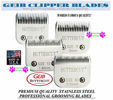 GEIB BUTTERCUT STAINLESS STEEL 10,30,7F,5F BLADE SET*FitMost Oster,Andis Clipper