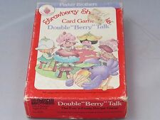 Vintage 1983 Strawberry Shortcake Double Berry Talk recipe card game - complete