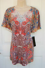 Women's plus G Colllection short sleeve cotton blend knit top size 2X NWT