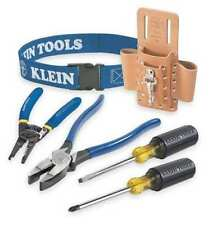 Klein Tools 80006 6-Peice Trim Out Tool Set, Leather Pouch is BLACK not Tan