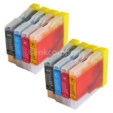 8 CARTUCCE BROTHER lc970 lc1000 dcp-135c dcp-150c mfc-235c mfc-260 compatibile