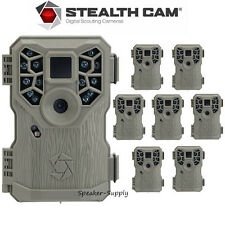 8 Pack Set Stealth Cam PX14 Trail Game Camera 8MP Scouting Infrared Deer Video