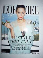 Magazine L'OFFICIEL PARIS #937 aout 2009 cover Marion Cotillard