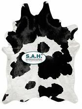 NEW LARGE Cowhide Rug Black and White Hide Leather Carpet $99!! Skin Carpet
