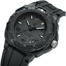 New Men's Luminox Black Sentry A0201.BO Carbon Rubber Strap Blackout 0200 Series