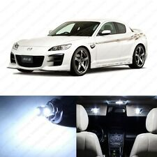 8 x Xenon White LED Interior Lights Package For 2004 - 2011 Mazda RX-8 RX8