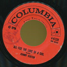 JOHNNY HORTON 45 TOURS USA ALL FOR THE LOVE OF A GIRL