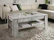 Shabby Chic Coffee Table Vintage White Pine Finish Contemporary Design Furniture