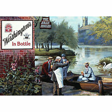 NEW WORTHINGTONS BOTTLED BEER POSTCARD OFFICIAL VINTAGE IMAGE OPIE CANAL ALE